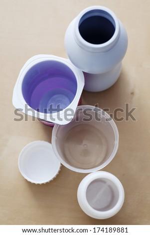 Food & Bisphenol A - stock photo