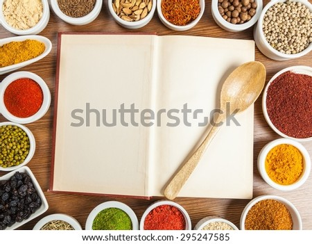 Food, book, cooking.