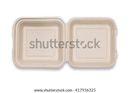 food box made of paper,isolated with clipping path - stock photo