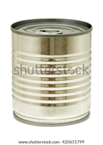 Food can isolated on white - stock photo