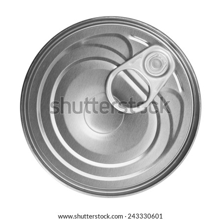 Food can isolated on white background - stock photo