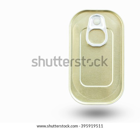Food can isolated on white background.