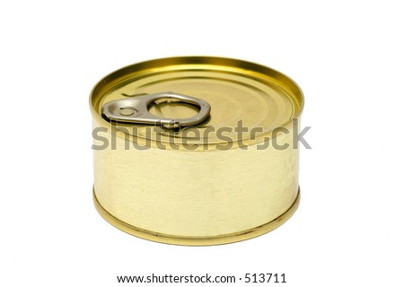 Food can on white background - stock photo
