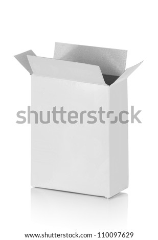 food cardboard box for new design on white background - stock photo
