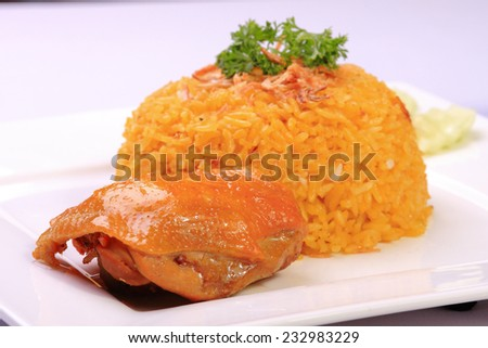 food chicken menu for eat - stock photo