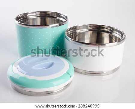 Food Container Tiffin, Food Container on the background. - stock photo