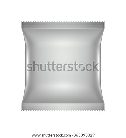 Food Cookie Blank Packaging design, illustration Virtual 3D isolated - stock photo