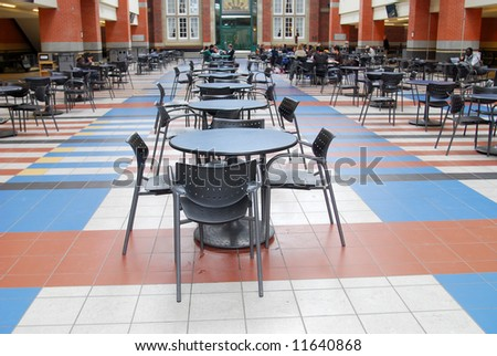 food court in SAIT campus (Southern Alberta Institute of Technology), Calgary - stock photo