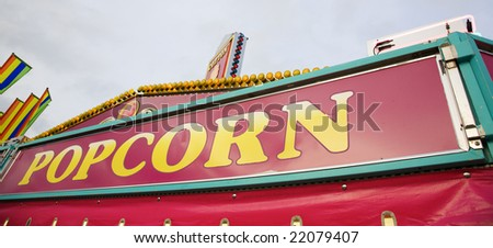 Food court signs - stock photo