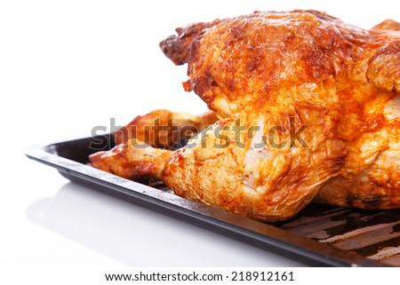Food. Delicious, grilled chicken on the table