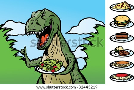 Food Dinosaur - stock photo