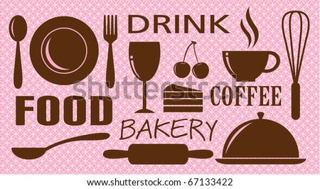 Food,drink,bakery and coffee design - stock photo