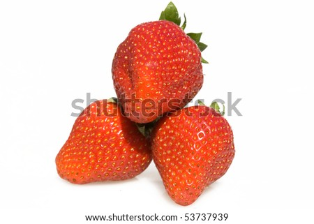 Food & Drinks - Fruits - Strawberries isolated on white background.