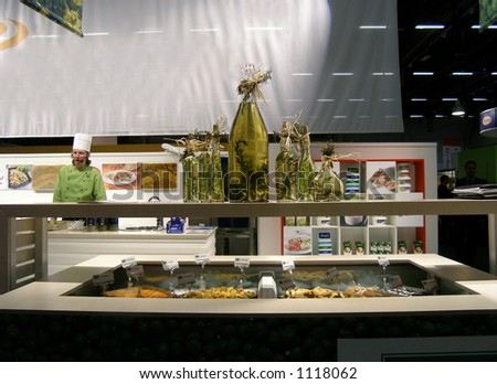 Food exhibit - stock photo