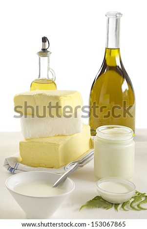 Food - Fats - stock photo