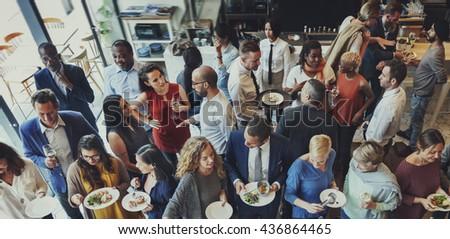 Food Festive Restaurant Party Unity Concept - stock photo