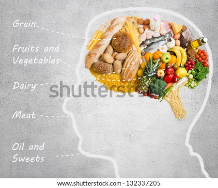 Food for thought - stock photo