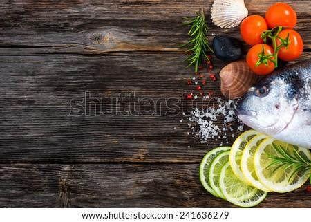 Food Frame   - stock photo