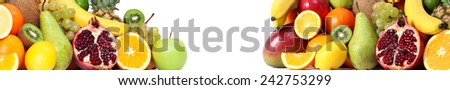 Food fruits both side banner - stock photo