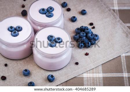 food, healthy food, food for breakfast, yogurt food, berry food - stock photo