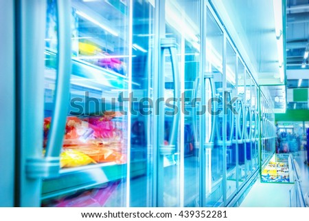 Food in a supermarket - stock photo