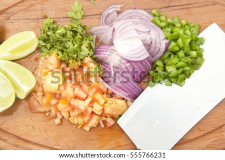 Food Ingredients small pieces cut
