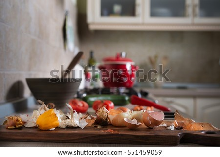Kitchen Counter With Food leftover food stock images, royalty-free images & vectors