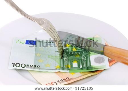 Food of the money. - stock photo