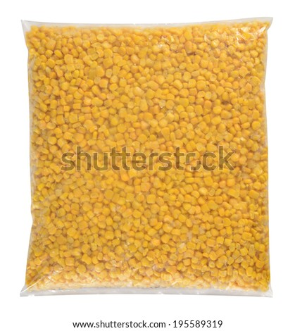 Food packaging. Isolated against white background. - stock photo