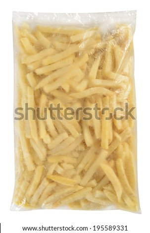 Food packaging. Isolated against white background.