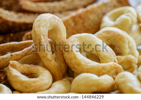Food Photography, Traditional Italian snack from Puglia, Taralli