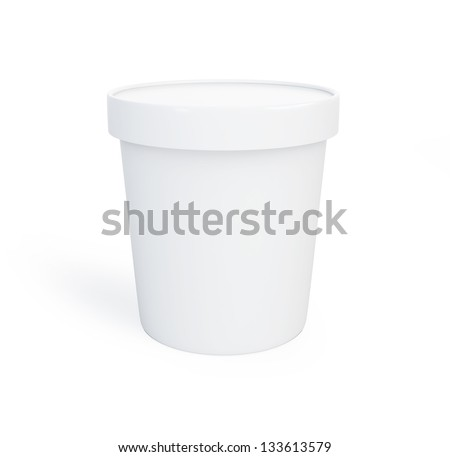 Food plastic container 3d Illustrations on a white background - stock photo