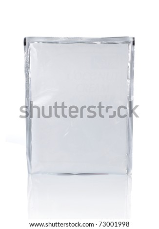 food plastic wrapping, isolated over white background - stock photo