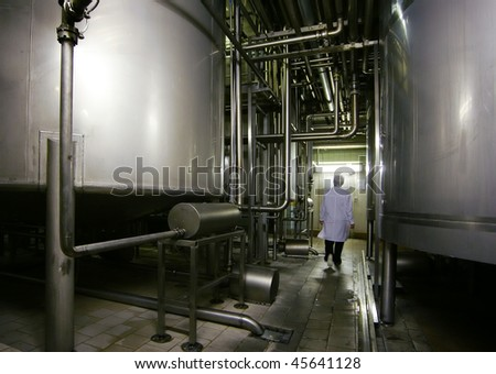 food-processing industry - stock photo