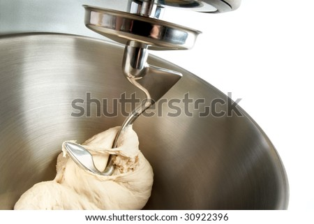 food processor to kneading dough for bread - stock photo