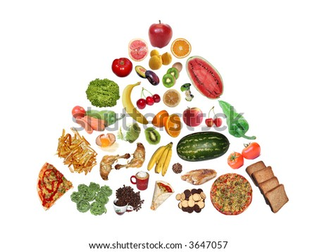 Food pyramid. - stock photo