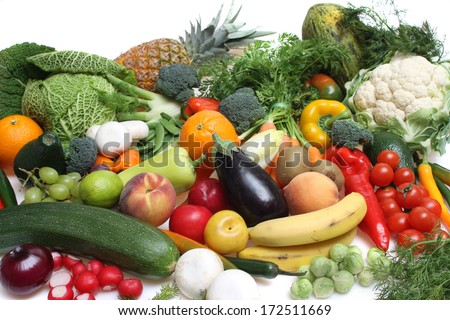 food,raw,vegetables,fruit,fresh,healthy,vitamin, - stock photo