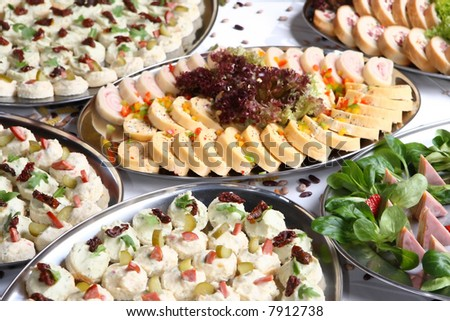 food restaurant celebration catering cold delicious rich party - stock photo