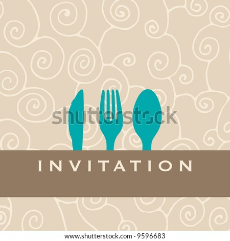 Food/restaurant/menu design with cutlery silhouette