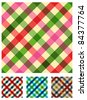 Food, restaurant, tablecloth menu design. Multicolored texture seamless pattern. - stock photo