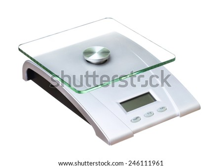 food scale electronic and digital isolated on white background