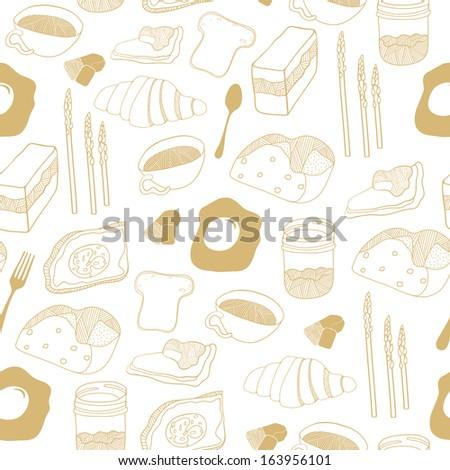 Food seamless background - stock photo