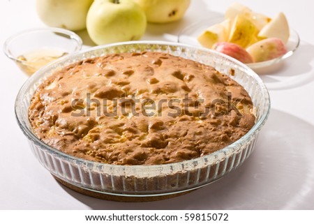 food series: tasty home made apple pie