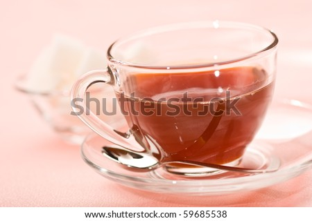 food series: tasty tea in glassy cup