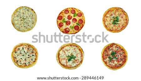 Food set different  Pizza . italian kitchen. Studio