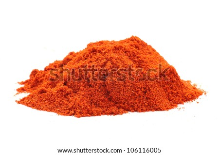 Food spice pile of red ground Paprika