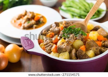Food, Stew, Soup. - stock photo