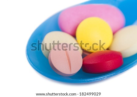 Food supplements concept - stock photo