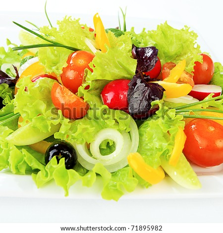 Food theme: fresh vegetable salad, side dishes. - stock photo