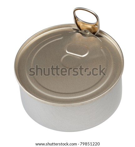 Food tin can isolated with clipping path included - stock photo